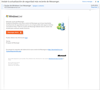 Correo de Windows Live