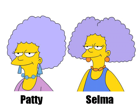 De izquierda a derecha: Patty y Selma