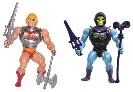 He-Man y Skeletor armadura de combate