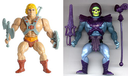 Figuras originales de He-Man y Skeletor