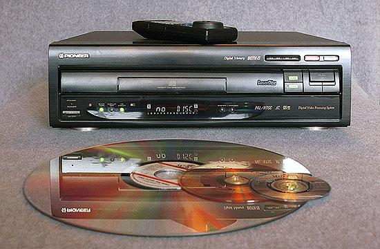 Reproductor y disco Laserdisc